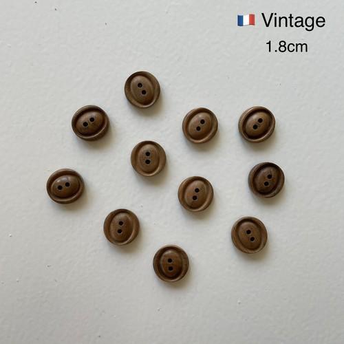 フランス ヴィンテージボタン(木製E)/ CO-