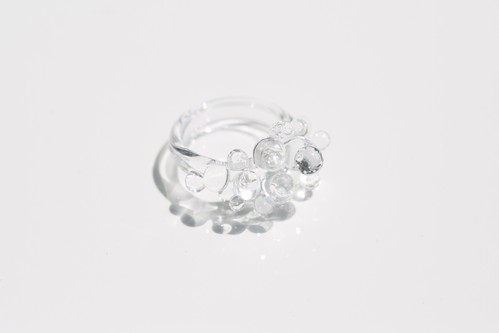 Glass bead リング クリア