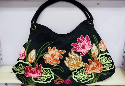 ハンドメイド花柄トートバッグ