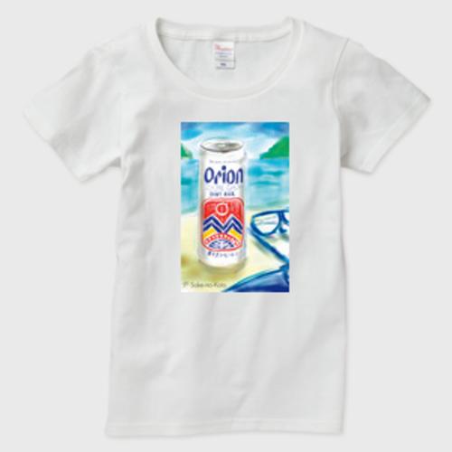 Orion Beer レディースTシャツ 白