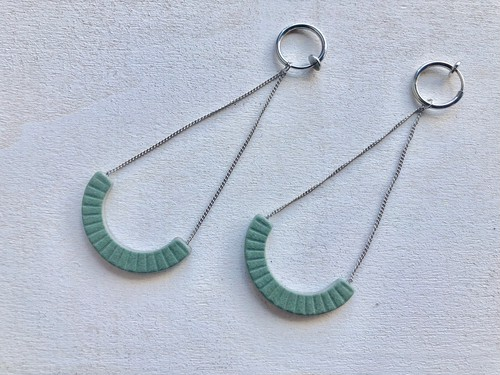 ilocami S-HOOP PIERCE/EARRING【GREEN】