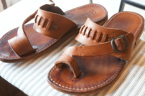 80's GAL-OR MEXICAN handcrafted leather Sandals