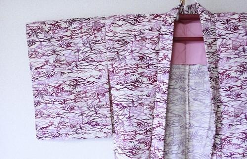 羽織*型染め 裄65cm
