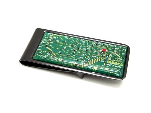 東京回路線図 マネークリップ 緑 【東京回路線図A5クリアファイルをプレゼント】