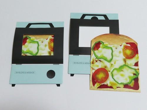ピザトースト風メッセージカード 兼 ぽち袋