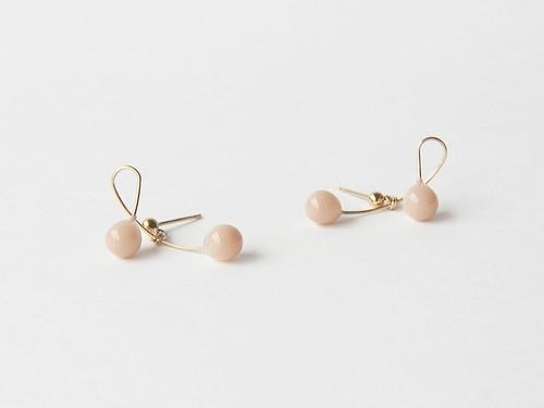 cherry milk beige【pierce/earring】