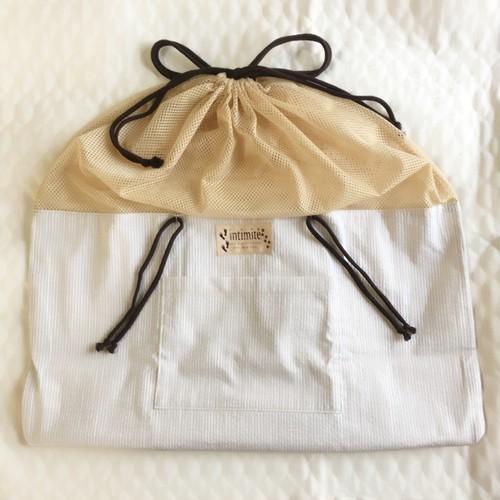 【SALE】いつものバッグがワンコバッグに!バッグ in バッグ(コットン)
