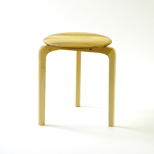 LISCIO スタックスツール(wood) (座面:オーク, 脚:メープル)