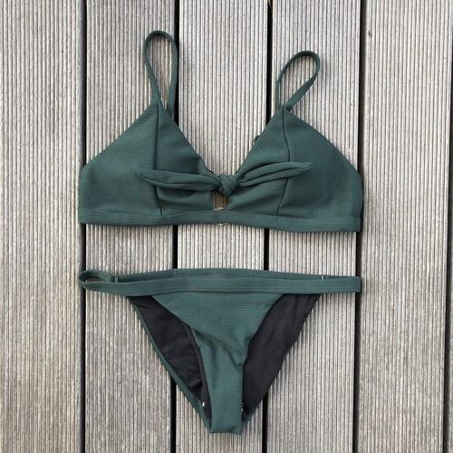 Bikini♡フロントタイストラップビキニ グリーン