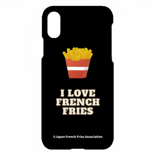 [ iPhone XS, X ] スマホケース(I LOVE FRENCH FRIES)