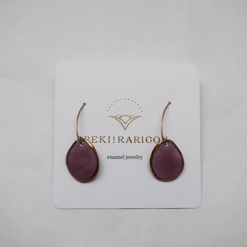 PEKI!RARIGON Wire Stone Earrings purple