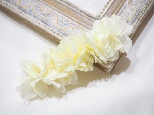 hair clip 〜cream white〜