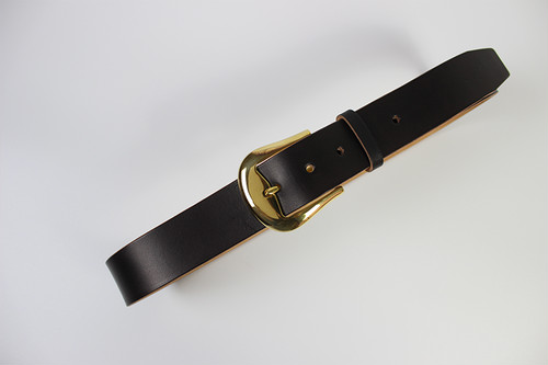JAPAN LANSUI DESIGN 名入れ対応 ヌメ革手作り 真鍮バクッル 厚み3~4MM 経年変化ベルト 品番JNF9638885343