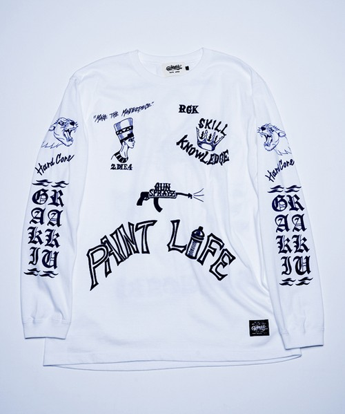 RAKUGAKI PAINT LIFE LONG T-Shirts White
