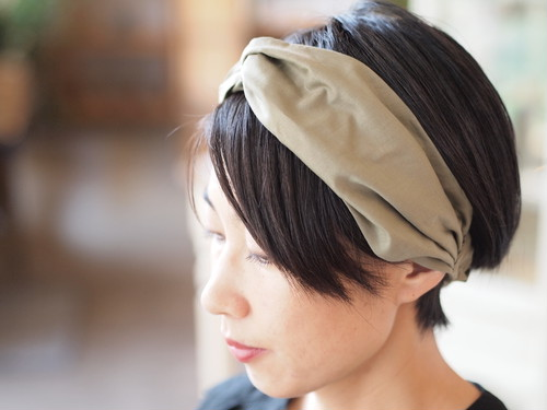 【sleepslope】HALF BIAS CROSS HAIRBAND