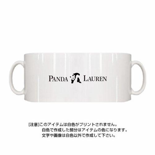 Panda Lauren シンプルマグカップ