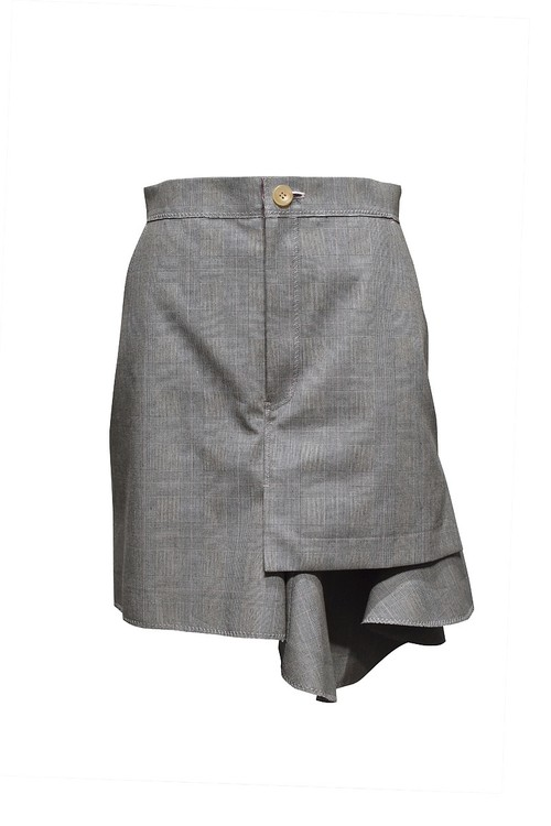NAIFE™ / Frilled mini skirt / Grey