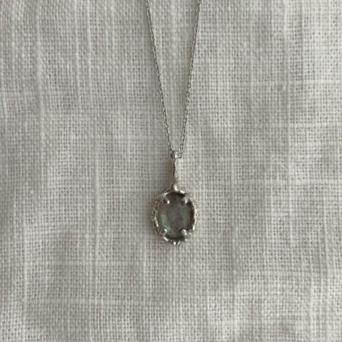 Yularice lace necklace gem SV925 Labradorite
