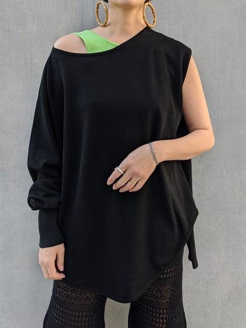 Deformation Knit Tops - BLACK