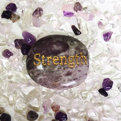 レピドライト Strength デザイン原石