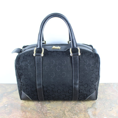 .OLD CELINE CARRIAGE LOGO MACADAM PATTERNED BOSTON BAG MADE IN ITALY/オールドセリーヌ馬車ロゴマカダム柄ボストンバッグ2000000050003