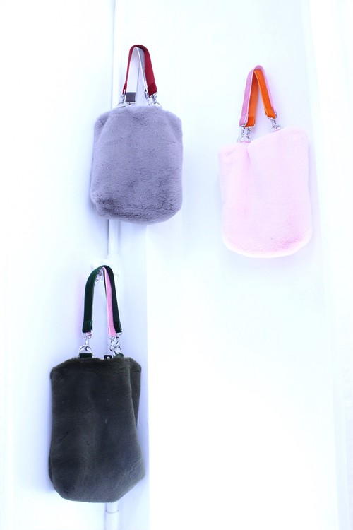 【Somewhere Nowhere】FAUX FUR TOTE