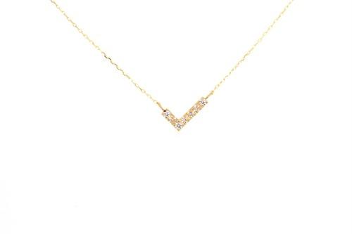 10KYG アミュレット angel WING ダイヤモンドネックレス