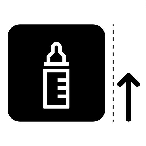 授乳室の案内マーク(矢印付き)のカッティングシートステッカー
