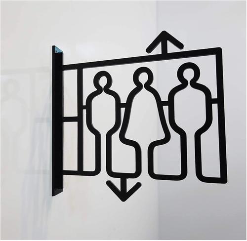 ツケレルン(ピクトサイン) 軽量 アクリル 突き出し 看板 標識 (黒, エレベーターA)【送料無料】