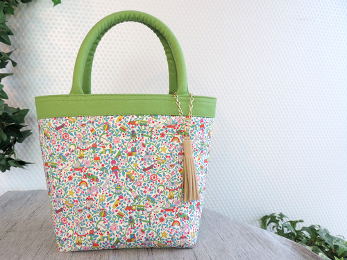[販売済]Toy Garden GREEN  From60 x LIBERTY TOTE BAG TypeT