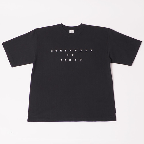 Smooth Heavy Typewriter Tee - BLACK