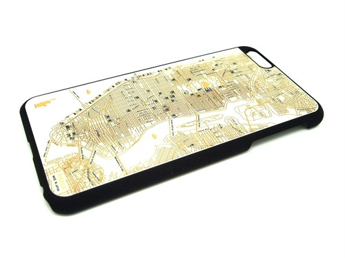 FLASH NY回路地図 iPhone6/6s  Plusケース  白【東京回路線図A5クリアファイルをプレゼント】
