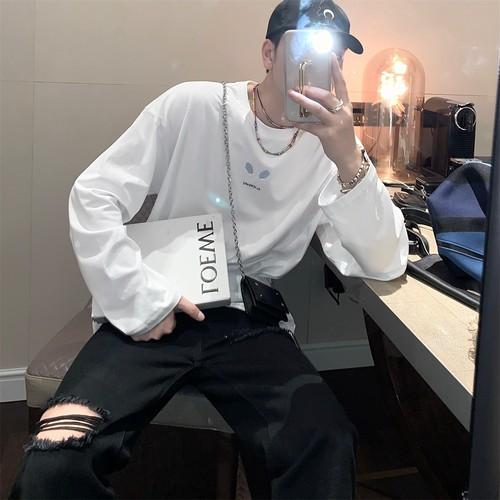 ★UNISEX エイリアンロングTシャツ(Black,White) 8800
