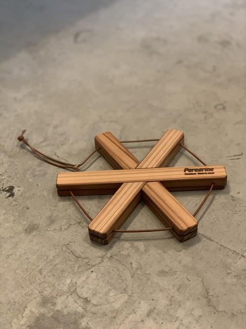 Pod Stand Star 圧縮杉の鍋敷き スター