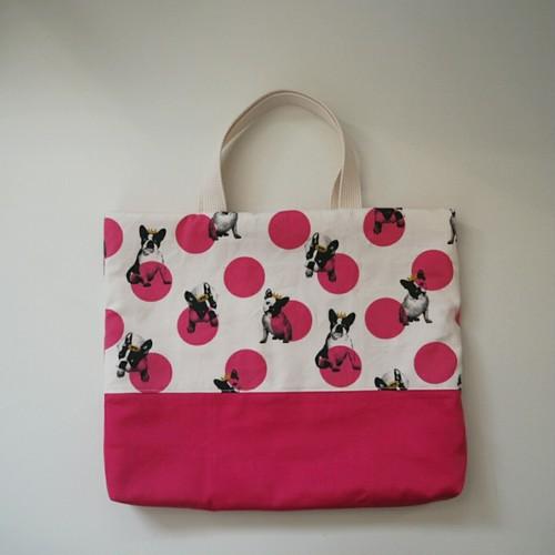 レッスンバッグ ☆ フレンチブルドッグ × ピンク