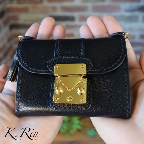 【受注制作】金具がオシャレなポーチ  (KA062c2)