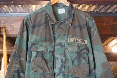 "80's U.S.Military camouflage hot weather Jacket ""piece-dyed"""