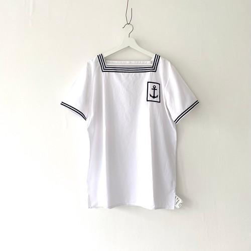 "FRANCE""MARINE NATIONAL""square neck sailor P/O shirt 104-108"