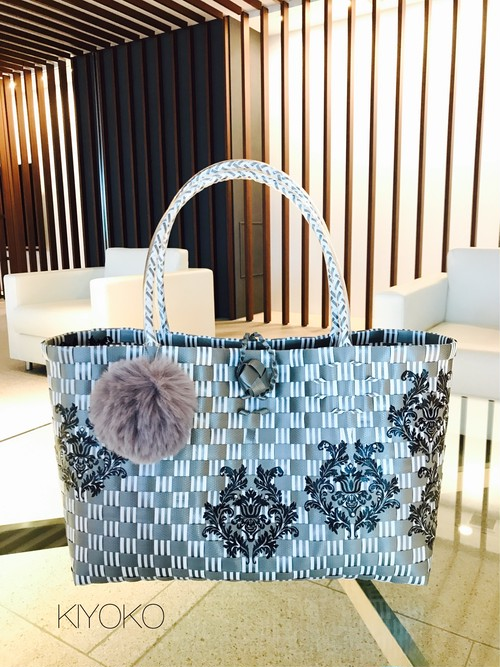 silver gray deco bag