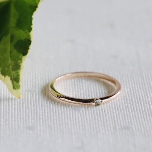 Petit Ring(K10)   グリーンベリル