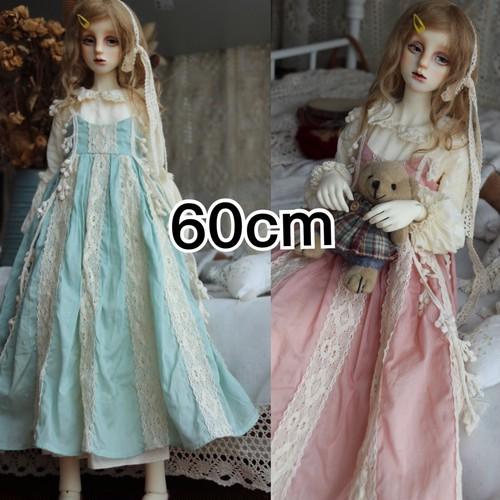【即納】ピンクor水色ドレスset【60cm】