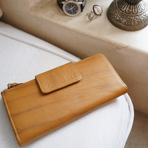 MOON LONG WALLET (yellow)