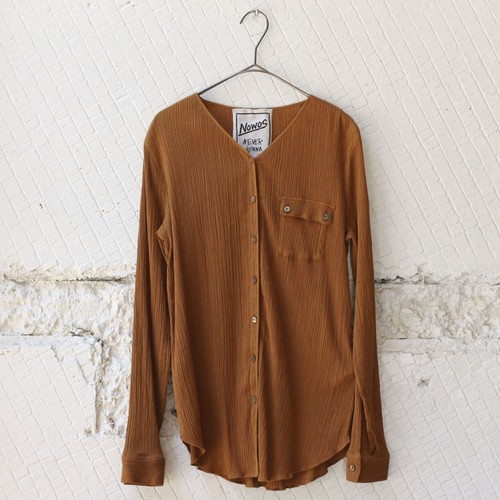 【nowos】COTTON CREPE SHIRT