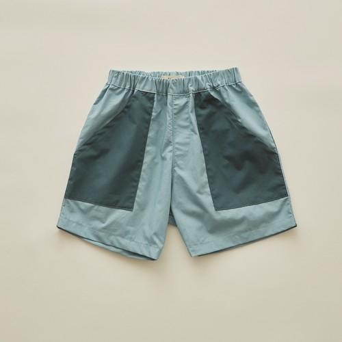 《eLfinFolk 2020SS》typwriter shorts / sky blue / 140・150cm