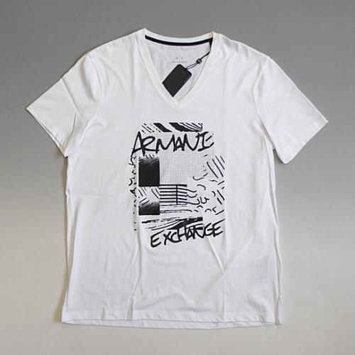 【メール便全国送料無料】ARMANI EXCHANGE アルマーニ エクスチェンジ デザインVネックTシャツ ホワイト