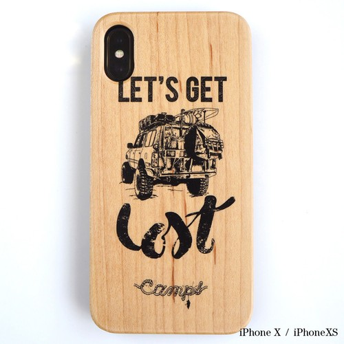 CAMPS iPhoneケース【Let's get Lost】LC80 wood 木製カバー