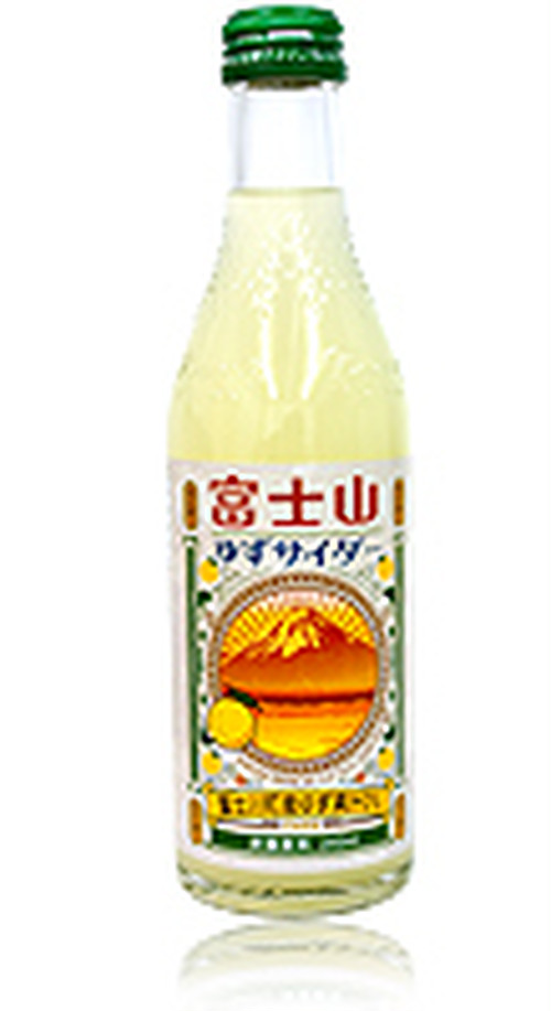 富士山ゆずサイダー 240ml ビン/20本入
