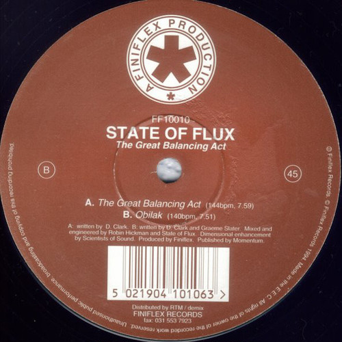 "STATE OF FLUX / The Great Balancing Act (12"")"