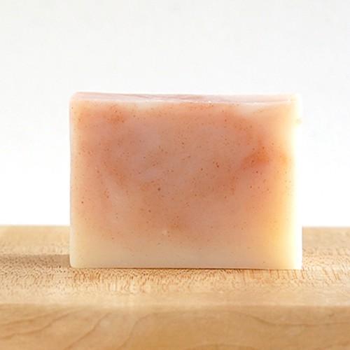 マーブル石鹸ピンク ゼラニウムとオレンジ
