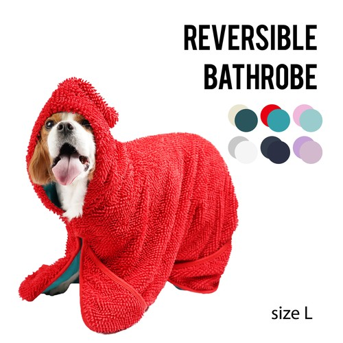 REVERSIBLE BATHROBE(Lサイズ) リバーシブルバスローブ